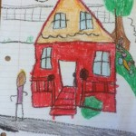 childs house drawing