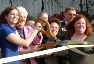 HMHI leaders cut ribbon on new offices