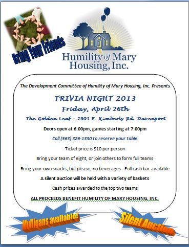 trivia night flier