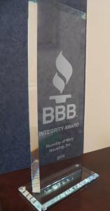 2014 BBB Integrity Award