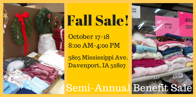 Fall Benefit Sale