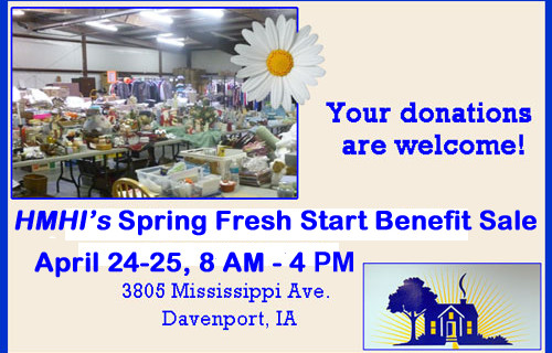 Fresh Start Sale for Spring 2015! April 24 & 25, 8am to 4pm