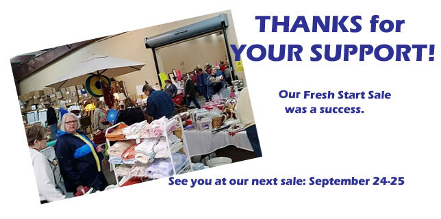 Thanks for a great Spring 2015 Fresh Start Benefit Sale!