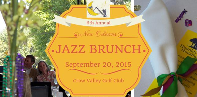 New Orleans Jazz Brunch: September 20 HMHI Benefit