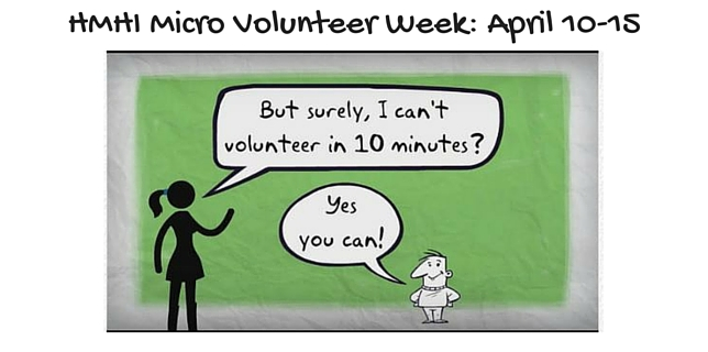 micro volunteer week