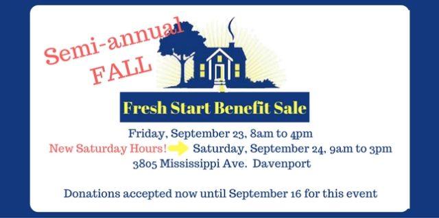 FALL Fresh Start Benefit Sale: September 23-24