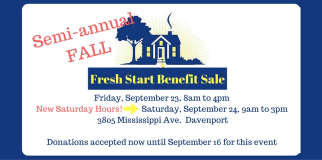 Fall 2016 Fresh Start Benefit Sale