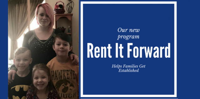 """New """"Rent It Forward"""" Program Offers Opportunity to Local Family in Need"""