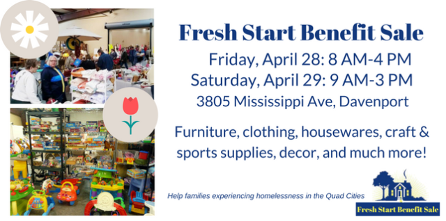 Spring Benefit Sale: April 28-29–Savings for you that helps needy families
