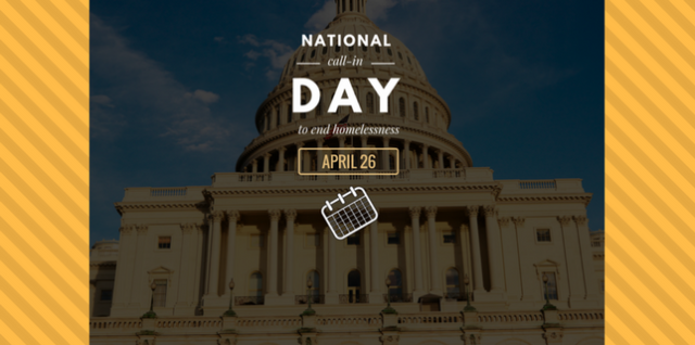 National Call in Day April 26: Raise your voice to fight homelessness