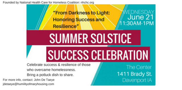 Solstice Event 2017: Celebrate resiliency and success over homelessness
