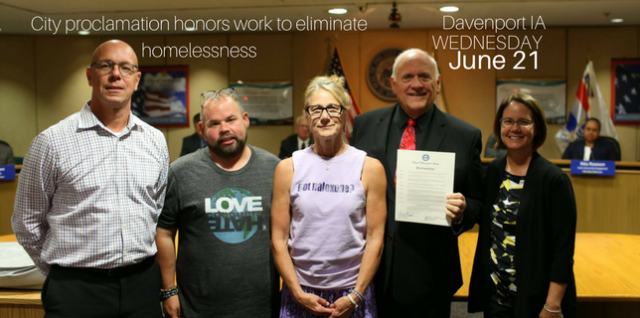 Davenport City Council Resolution Honors Efforts to Vanquish Homelessness
