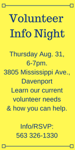 Vol Info Night 8-21 at 6pm